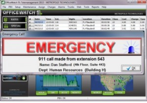 Office Watch emergency call notification